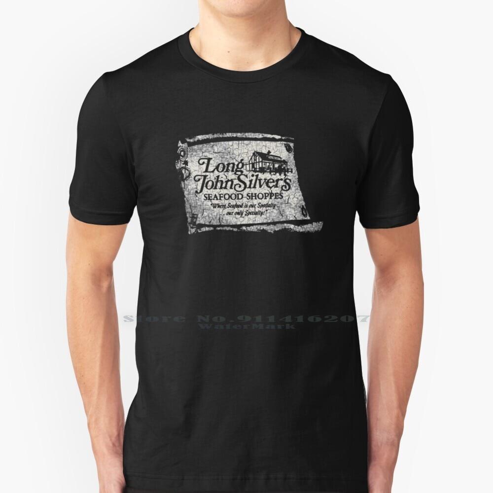 Long John Silver's T Shirt 100% Pure Cotton Long John Silvers Long John Silvers Logo Old Logo Logo R