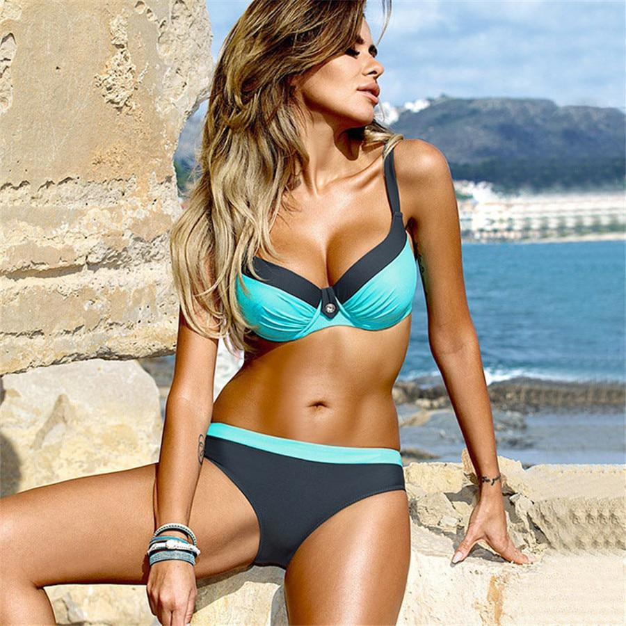 YICN nuevo Sexy Bikini Tanga traje De baño mujeres Biquinis femenino Maillot De Bain Femme 2020 traje De baño