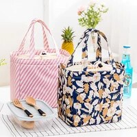 portable convenient lunch bag fresh insulated lunch boxes cold tableware outdoor picnic oxford thermal waterproof storage bags