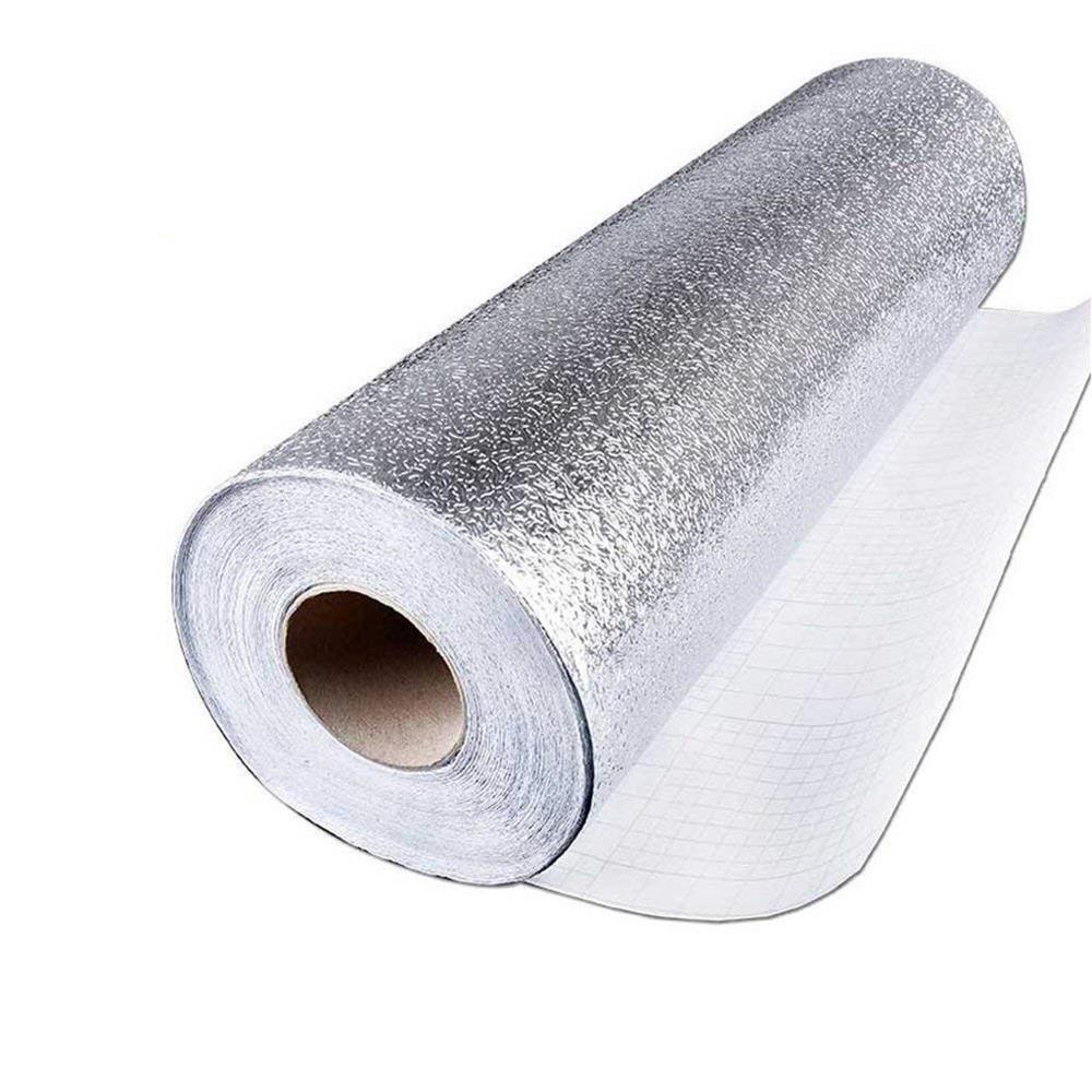 Самоклеящаяся Высококачественная алюминиевая фольга, настенная бумага, щиток, жаронепроницаемая масляная Водонепроницаемая кухонная настенная бумага, украшение 1FM