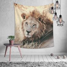 Animal naturel Lion chat ananas tapisserie Hippie Mandala tenture murale chambre Polyester voyage Camping psychédélique nappe