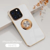 plating silicagel ring phone case for xiaomi mix 4 10t 11i 11 lite ultra poco f2 f3 x2 redmi note k30 k30s k40 9t pro plus cover
