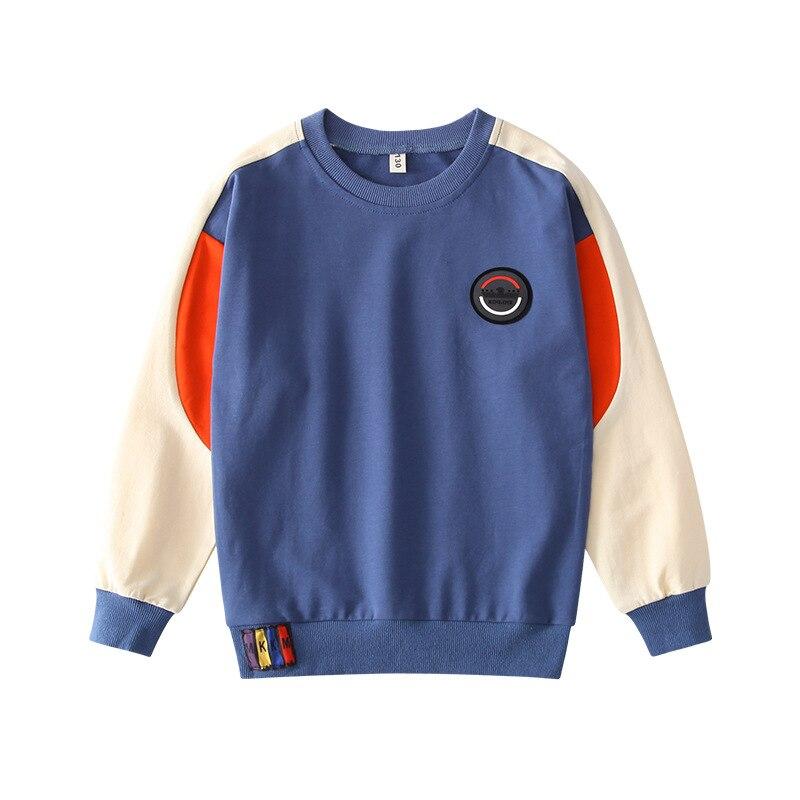 Meninos outono Moletons Casual Crianças Camisetas Crianças de Algodão de Manga Longa O-pescoço Tops Hoodies Para Meninos Roupas 4-16Y Adolescente Tees