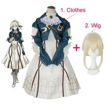 Anime Violet Evergarden Costume Cosplay abito da cameriera principessa di alta qualità gonna da ballo di carnevale di Halloween per donna