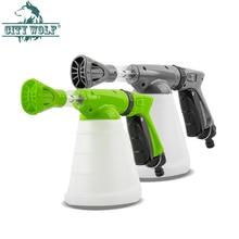 CIty wolf hogar de alta presión jabón pistola de espuma jardín Boquilla DE AGUA jabón para autolavado riego conectar con el grifo de agua