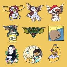 PC986 Anime Animal épinglette en métal mode broches Badges Denim vêtements sac épingles cadeau pour les amis