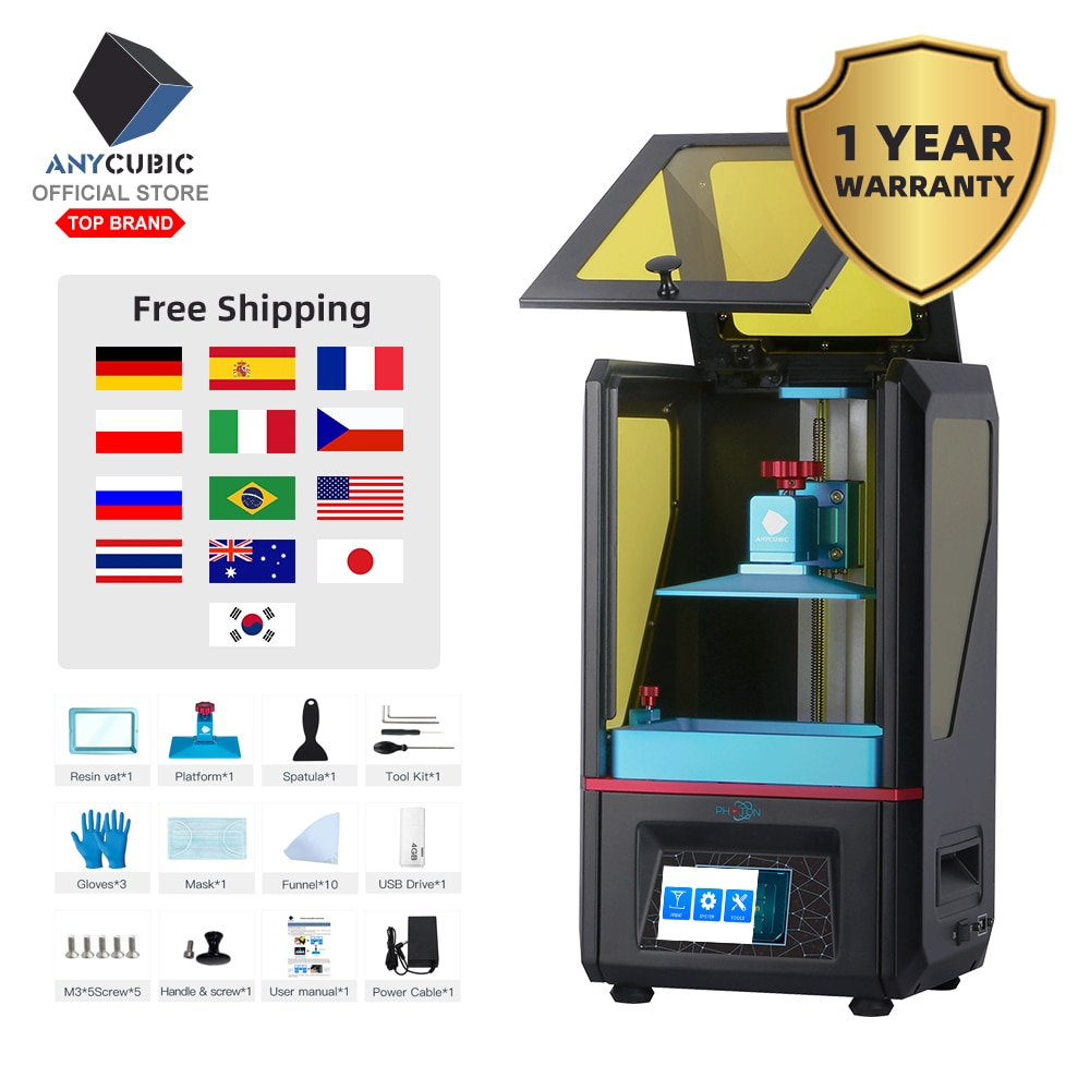 ANYCUBIC Photon SLA 3D Printer Plus Size UV Printer LCD 3D Printer Off-Line Print Impresora 3d Drucker Impressora UV Resin