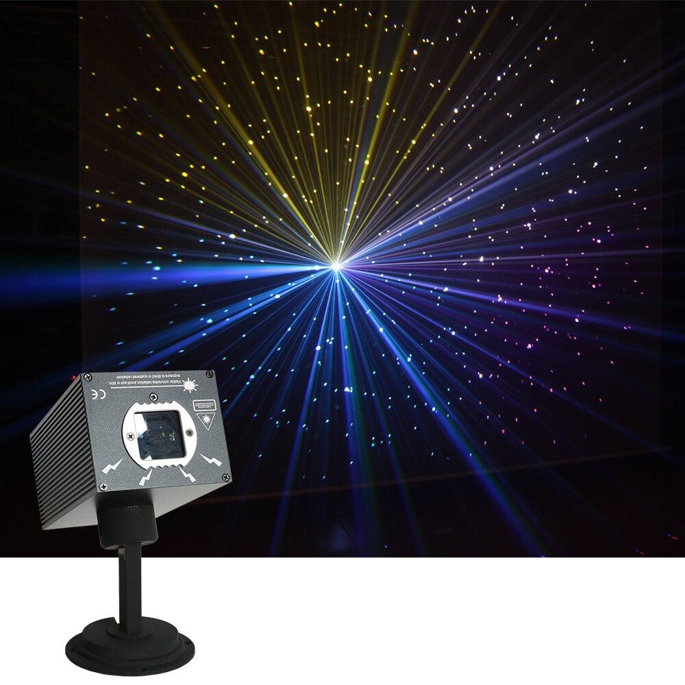 Sharelife-جهاز عرض ليزر صغير ، 500 ميجاوات ، DJ ، RGB ، تأثير النجوم المتلألئة ، DMX DJ ، إضاءة الحفلة المنزلية