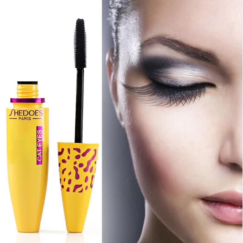 4D Silk Fiber Lash Mascara Waterproof Rimel 3d Mascara For Eyelash Extension Black Thick Lengthening Eye Lashes Cosmetics TSLM1 недорого