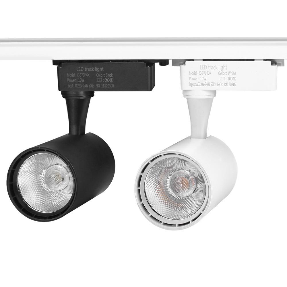 COB 10W 20W 30W Led Track light aluminum Ceiling Rail Track lighting Spot Rail Spotlights Replace Halogen Lamps AC220V