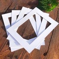 15pcs white photo mats rectangle paper mounts for 6781016 inch a4 a3 picture frames photo decor photo mat paper photo frame