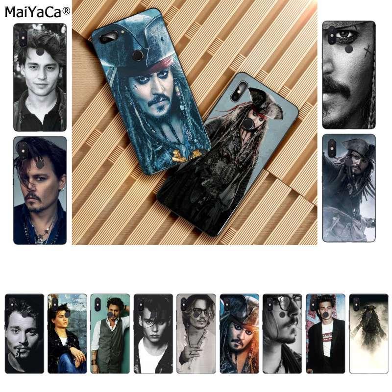 MaiYaCa johnny depp Smart Cover Black Soft Shell Phone Case for Xiaomi 8 9 se Redmi 6 pro 6A 4X 7 note 5 7 Coque Shell