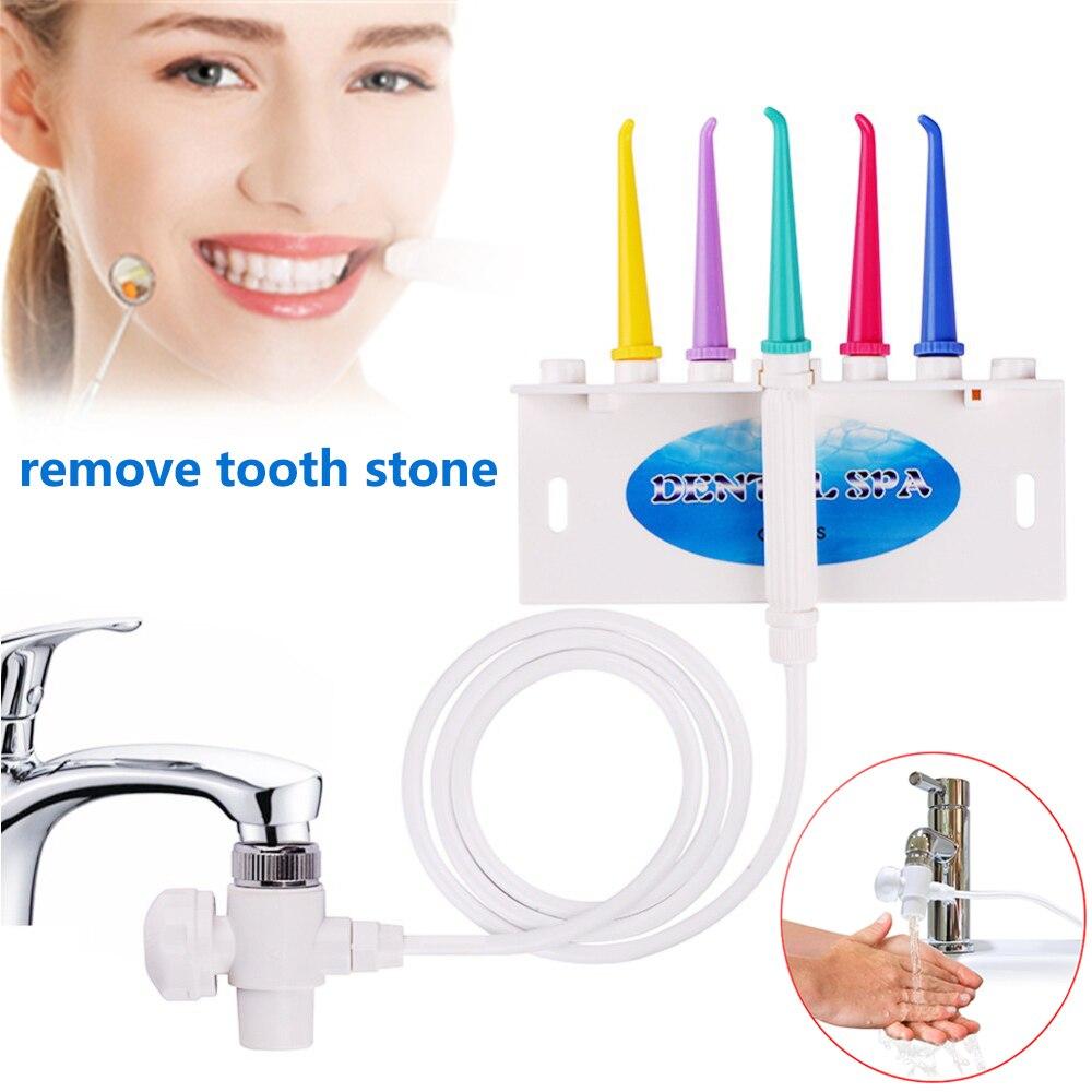 Water Dental Flosser Faucet Oral Irrigator Water Jet Floss Irrigator Dental Pick Oral Irrigation Teeth Cleaning Machine 5 Tips enlarge