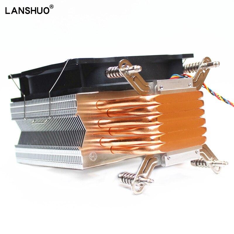 LANSHUO Kühler CPU X97 2011v3 V4 beste budget Cpu kühler 6 Wärme rohr 120mm RGB fan LED Kühlung X79 x99 X299 Neue Eingetroffen Hot