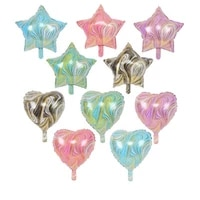 18 inch agate five pointed star heart shaped foil balloons birthday party wedding decorations aluminum balloon helium globos