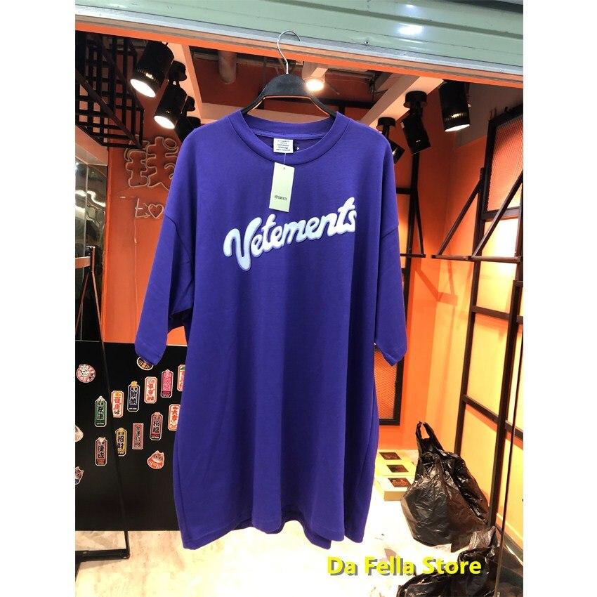 Camiseta VETEMENTS Purple Milk 2020 para hombre y mujer, camiseta blanca con estampado de letras Milk con Logo, camisetas de gran tamaño Hip Hop VTM, camisetas VTM