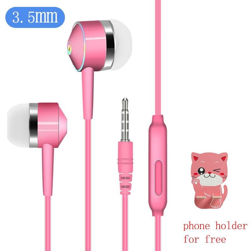 Écouteurs avec Microphone filaire écouteurs dans loreille basse profonde 3.5mm Jack pour Xiaomi Samsung Huawei Fone De Ouvido envoyer support De téléphone