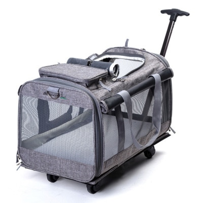 H1 plegable 20 Kg bolsa de carro de mascota grande y mediana mochila tipo jaula