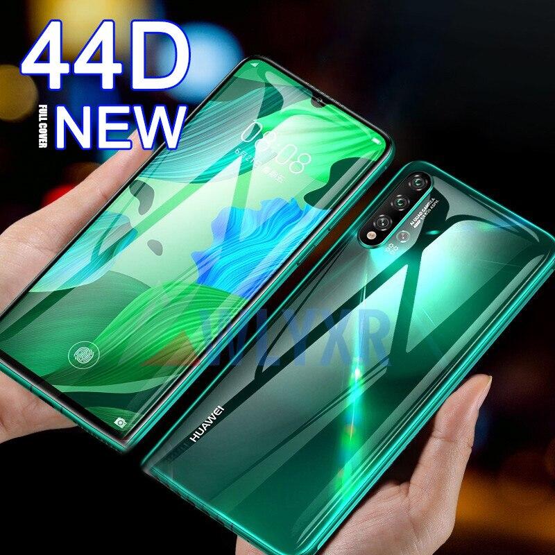 Frente + atrás 44D de la cubierta completa de hidrogel de película para Huawei Honor 9X20 de película Protector de pantalla para P30 p20 Nova 5 5i 3i 4E Pro Lite