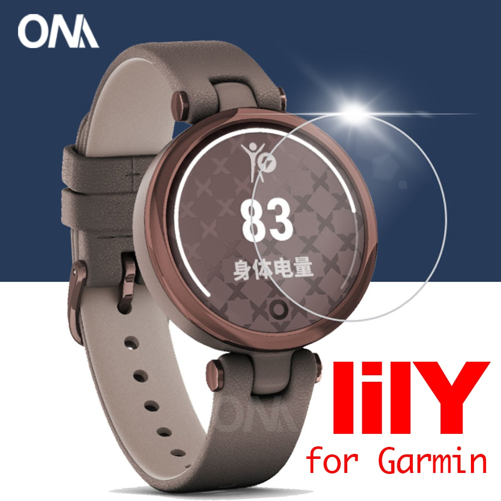 5 Pcs Premium Tempered Glass For Garmin Lily Women's Fitness Sport Smartwatch Screen Protector Watch Protective Film Accessories
