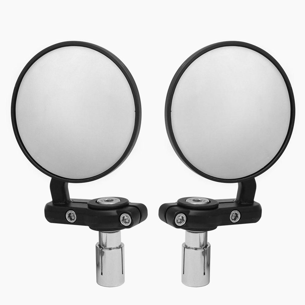 22mm Universal Motorcycle Mirror Aluminum Black Handle Bar End Rearview Side Mirrors Motor Accessories