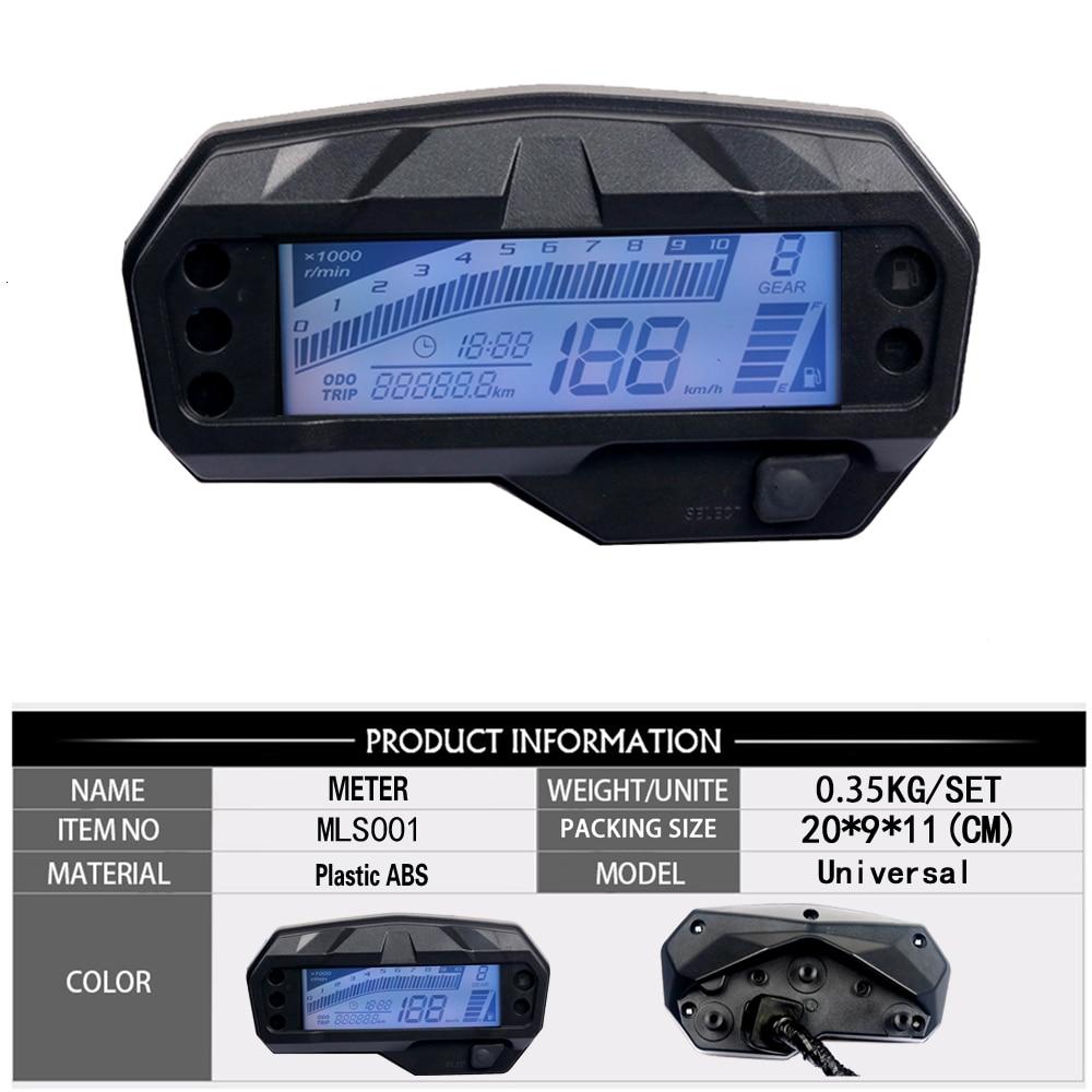 دراجة نارية عداد السرعة مقياس الالكترونيات الرقمية مؤشر Led عرض الملحقات لياماها FZ16 درجة حرارة الماء