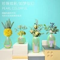 modern light luxury ins ceramic vase dining table living room flower arrangement dried flower floral decoration home furnishings