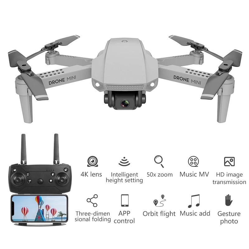 E88  4kPro Drone Gps Drones With Camera Hd 4k Rc Airplane Dual-Camera Wide-Angle Head Remote Quadcopter Aircrafts Toy enlarge