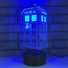 Doktor LED RGB Gece Lambası 7 Renk Değişimi masa ışığı Aksiyon Figürleri 1894 Erkek Kız Noel Oyuncaklar