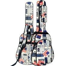 600D водостойкая ткань Оксфорд двойной прошитый Мягкий ремень Gig Bag Чехол для гитары 40/41 дюймов Акустическая классическая народная гитара