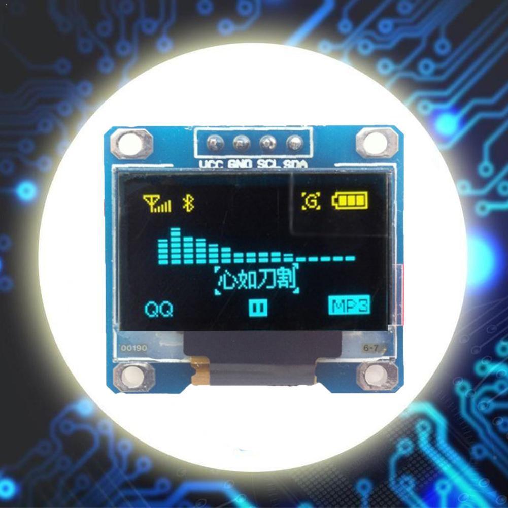 Módulo De Pantalla LED Digital de 128x64 para 51 Series CSR STM32 MSP430 IC, paquete de 4 Series, controlador de 2 placas D0H6 1 unidad