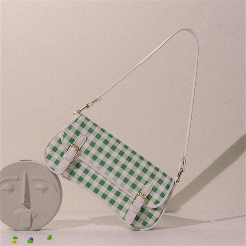 Luxury Plaid Underarm Bag 2020 Summer Original Design Handbags High Quality Women Commuter Shoulder Bag Lattice Hand Bags