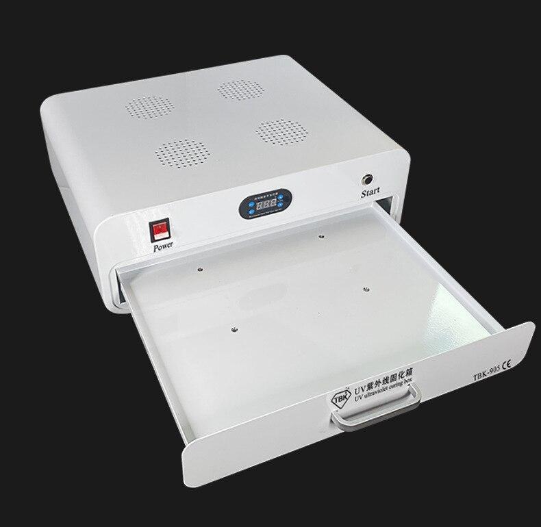 صندوق معالجة بالأشعة فوق البنفسجية ، سطح منحني ، شاشة مرنة ، لاصق بصري خالٍ من التجاعيد ، بدون ظل ، صندوق معالجة LED UV TBK 905
