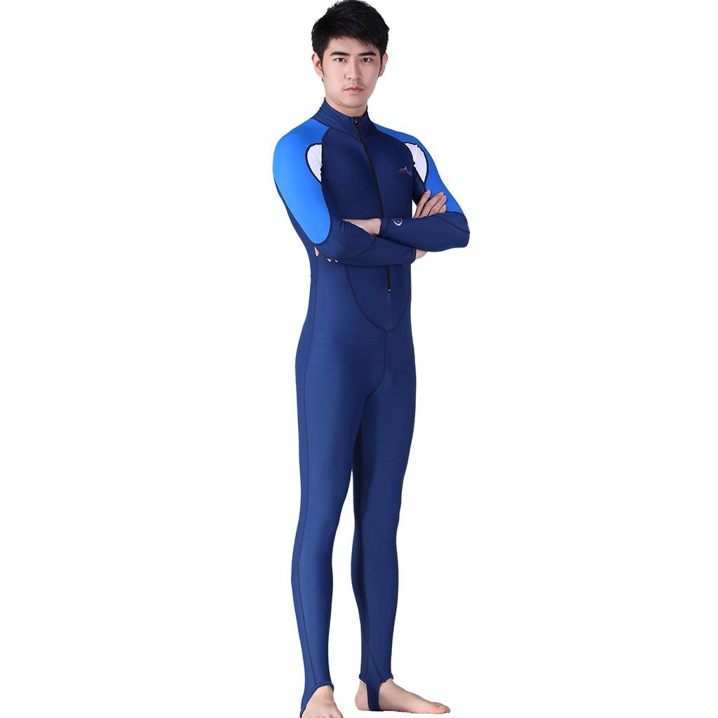 Manga longa Homens maiô Mergulho Surf Mergulho One-piece manga Wetsuit Swim Suit traje de Corpo Inteiro de baño larga