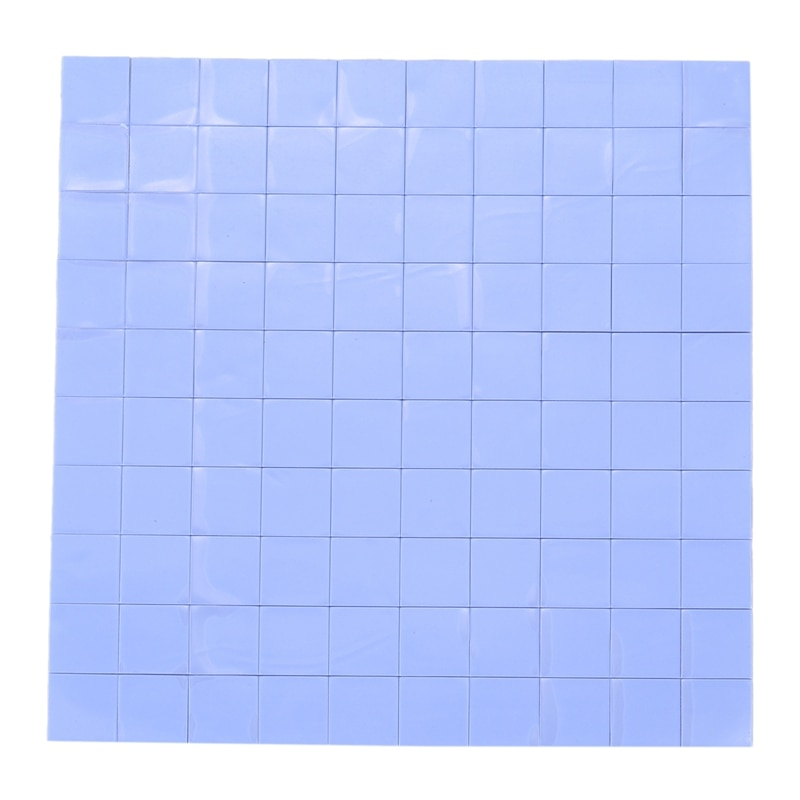 Protection thermique de silicone de 100x10x10x1mm pour le Pate conducteur disolation de radiateur, Promotion bleue