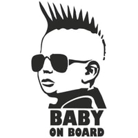 dawasaru warning decals baby on board funny personality car stickers motorcycles truck auto decoration pvc15cm8cm