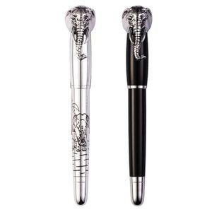 Elephant Head in Lid Fountain Pen Delicate Medium Nib Signature Pens Business Home Office School Supplies
