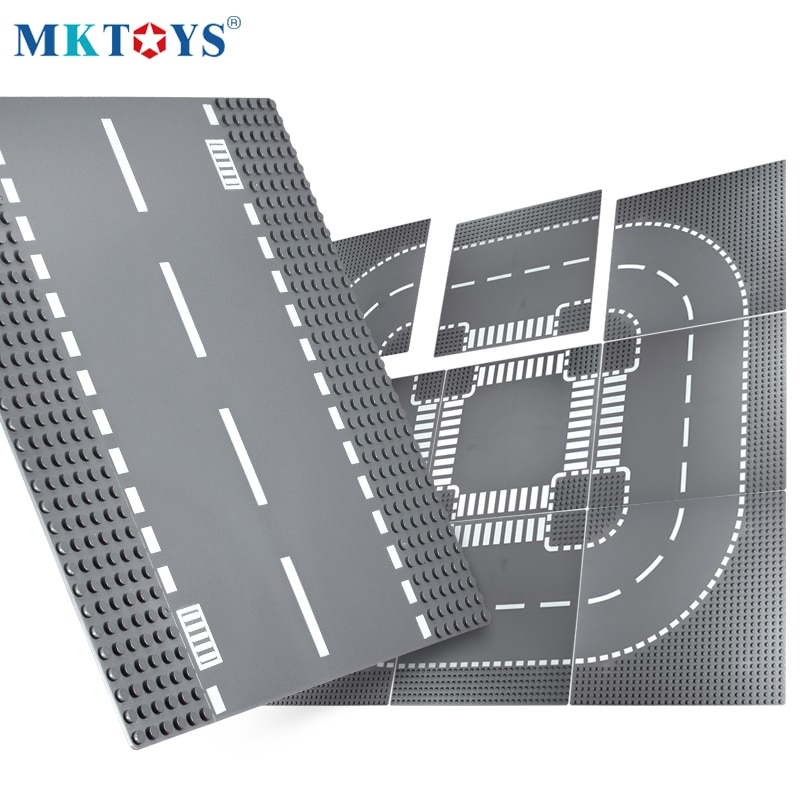 MKTOYS Block Baseplate 32*32 DOTs Bricks Plates Building Blocks Compatible with Classic City Road Street Base