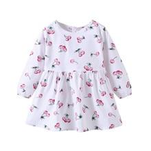 Niño chico vestido de bebé niña de manga larga de invierno de dibujos animados de fruta impreso vestido de princesa ropa de bebé jurkjes lange mouwen #2