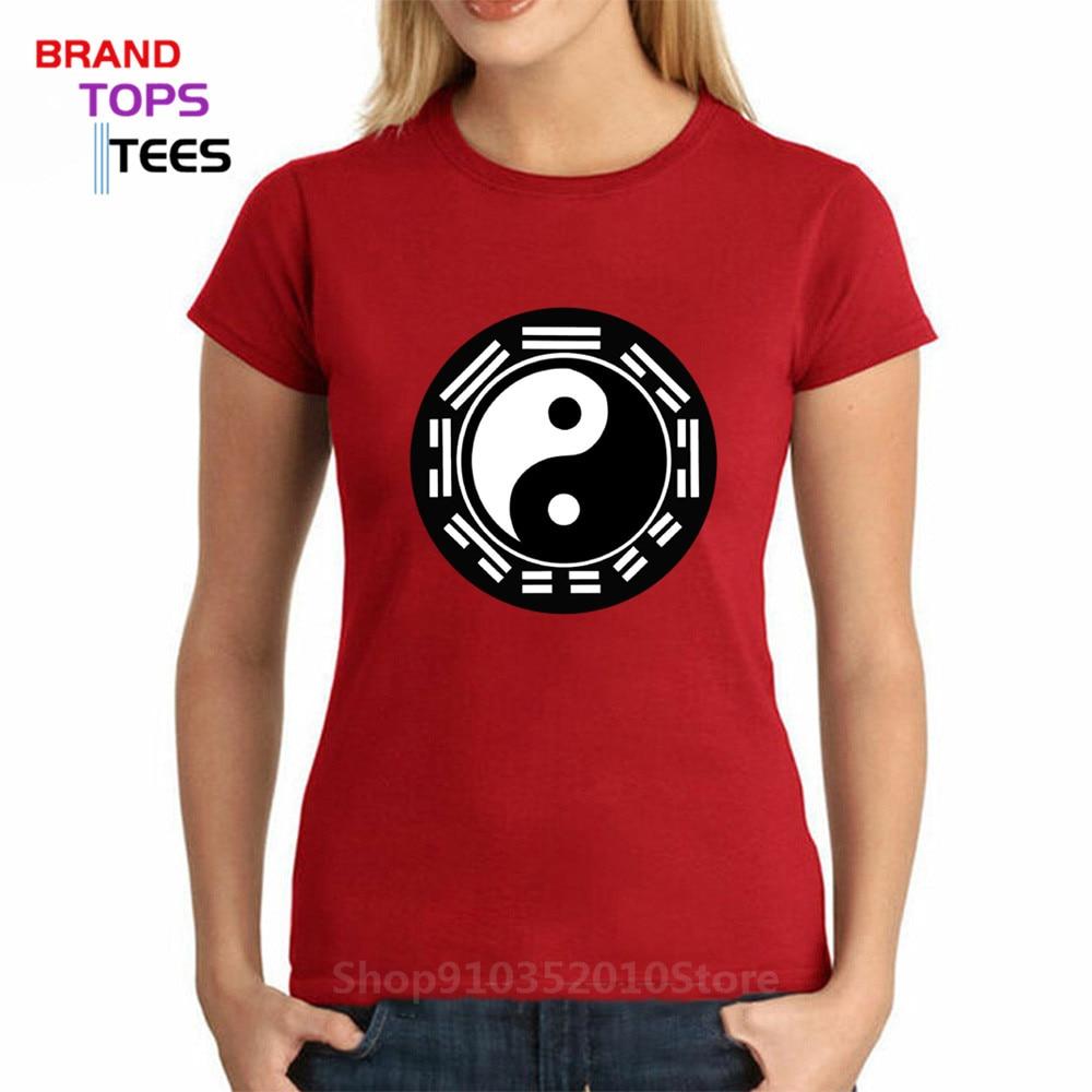 Футболка из бутика в китайском стиле, модная футболка с принтом Тай Чи Багуа Инь Янь, хлопковые футболки с коротким рукавом и круглым вырезом, брендовая одежда|Футболки| | АлиЭкспресс