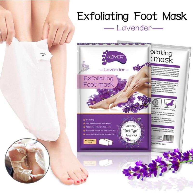 Foot Mask Skin Heel Socks Peeling Ginger Lavender Exfoliating Renewal Pedicure Remove Dead Foot Care Product