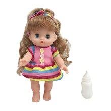 26cm clignotant chantant mini reborn bébé fille poupée parlant nouveau-né poupée modèle complet vinyle corps silicone Reborn bébé poupées enfants cadeau