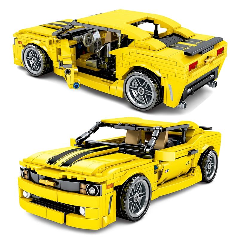558Pcs Camaro Sport Auto Bausteine Fit Lepining Technik Racer Fahrzeuge Supercar Playmobil Ziegel Kinder Jungen Spielzeug Geschenke