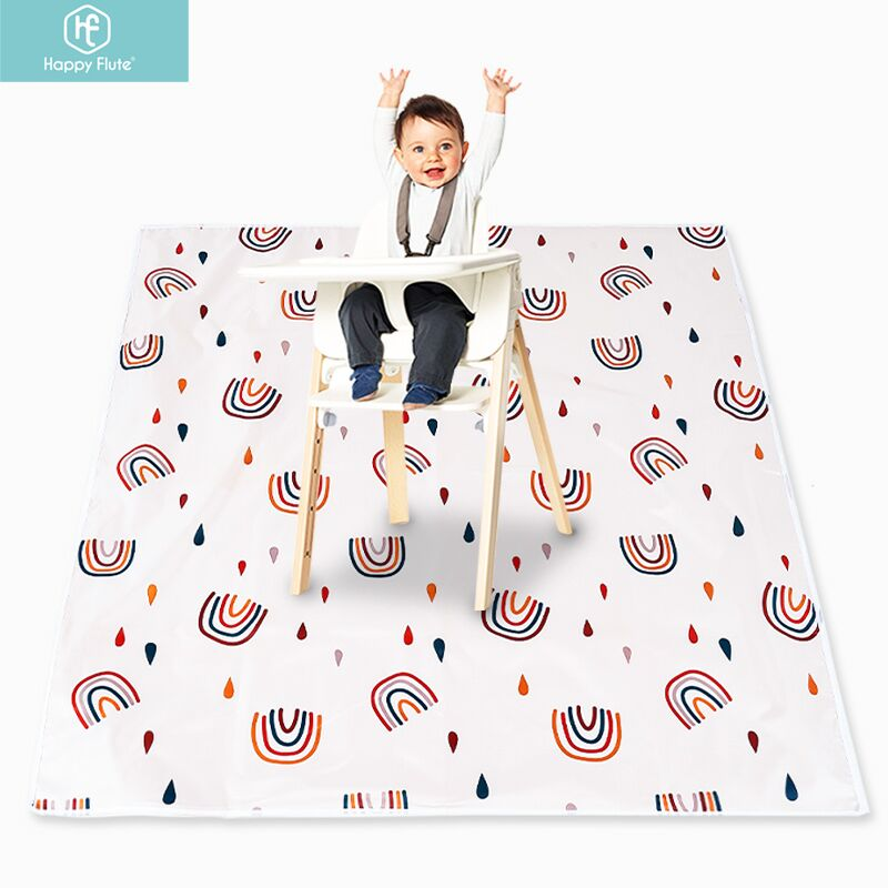 Happy Flute-سجادة لعب قابلة للطي للأطفال ، حصيرة زحف للأطفال ، محمولة ، مقاومة للماء ، غير قابلة للانزلاق ، للاستخدام الداخلي أو الخارجي