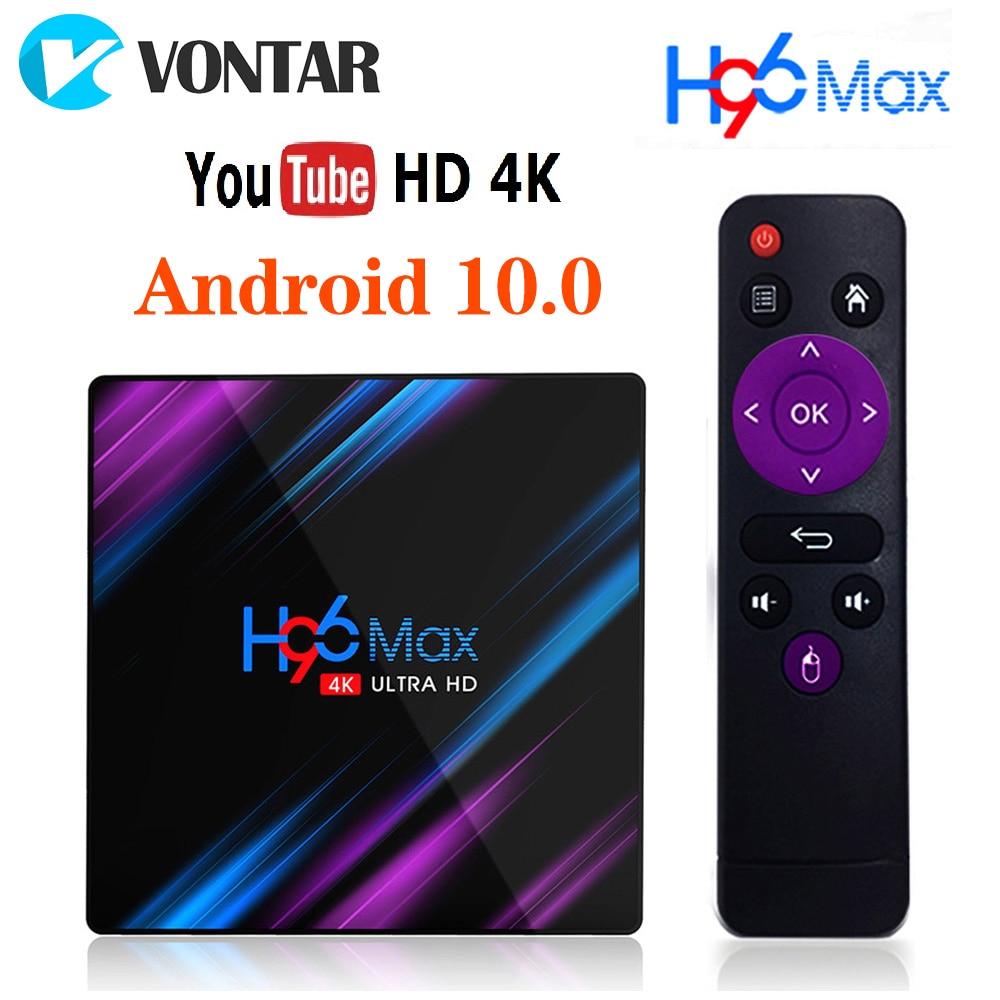 10 قطعة H96 ماكس صندوق التلفزيون أندرويد 10.0 Rockchip RK3318 4GB 64GB 4K H.265 يوتيوب 2G 16G أندرويد TV مجموعة مشغل وسائط تي في بوكس