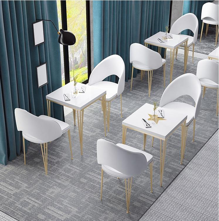 Досуг Кофейня для обсуждения столов и стульев комбинированный мраморный сетчатый Красный Ресторан маленький круглый стол чайный магазин с...
