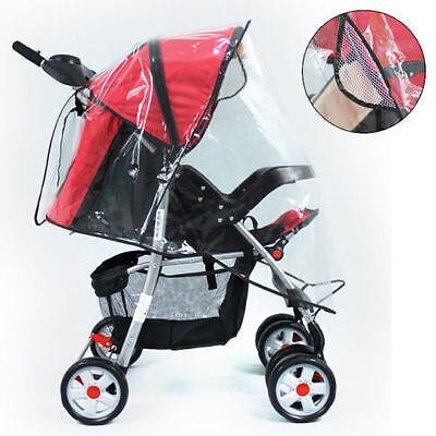 Housse de pluie universelle pour poussette pour bébé, housse de pluie transparente pour poussette