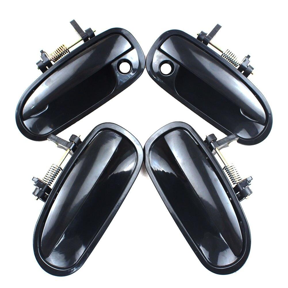 LARBLL 4 шт./компл. Передняя Задняя Левая Правая черная внешняя дверная ручка для Honda Civic EK3 1996-2000