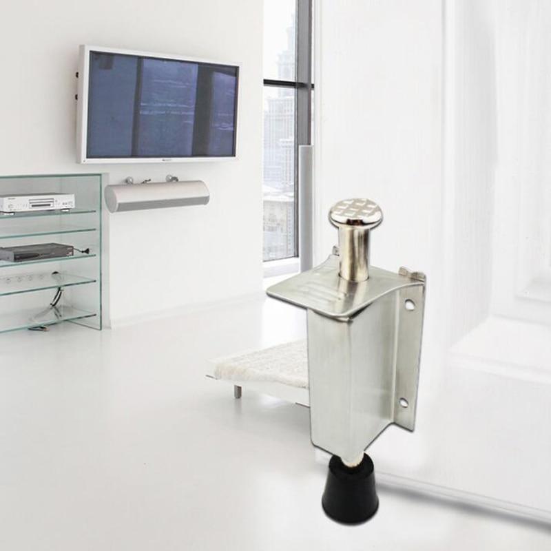 Tapón de puerta de gabinete atrapa Acero inoxidable empuje para abrir el amortiguador táctil amortiguador suave y en silencio más cerca herrajes para muebles