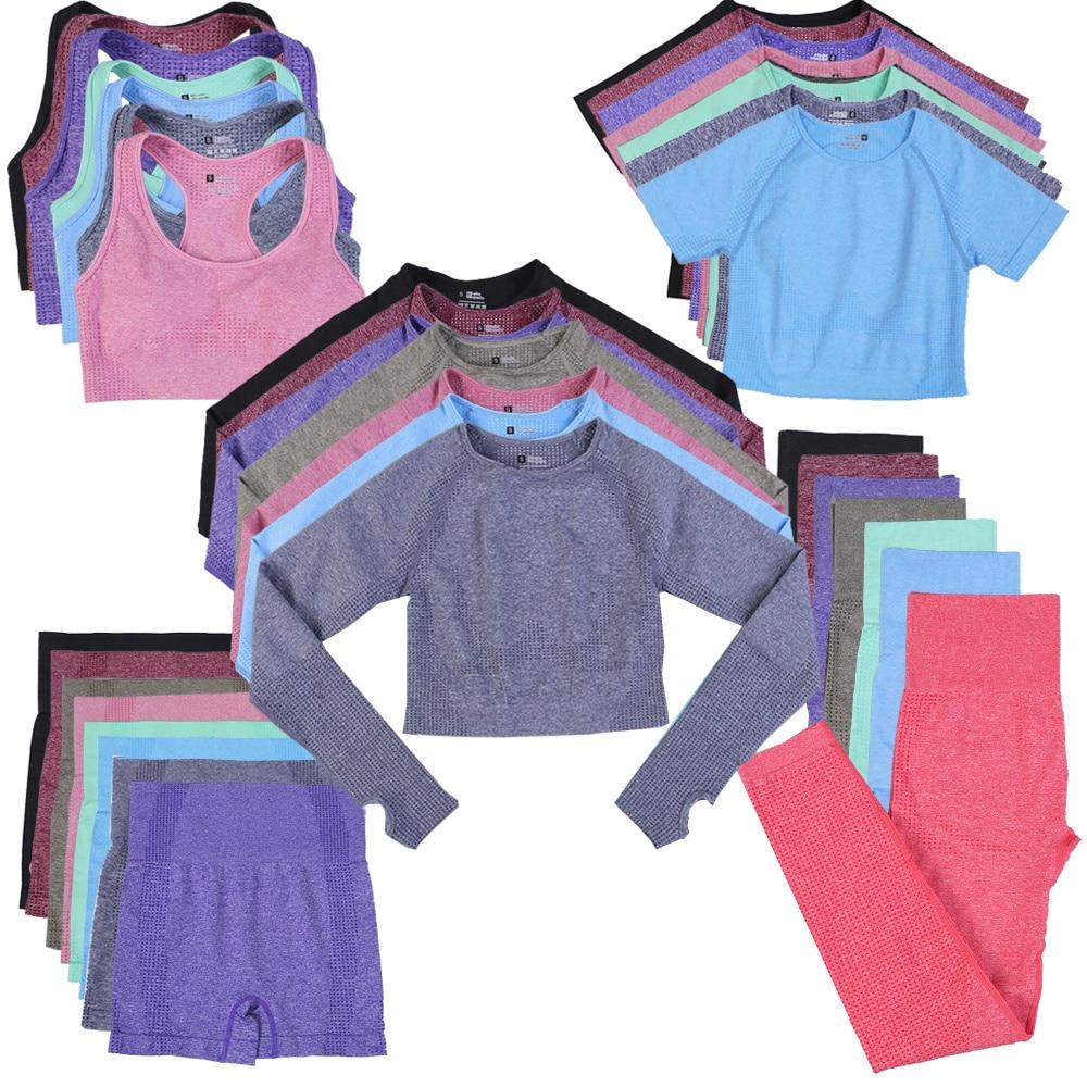 Chándal Sin Costuras Para Mujer, Pantalones Cortos, Conjunto De Yoga, Conjunto De Entrenamiento Deportivo, Conjunto De Gimnasio